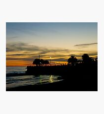 Sunset in Montevideo Coast Photographic Print