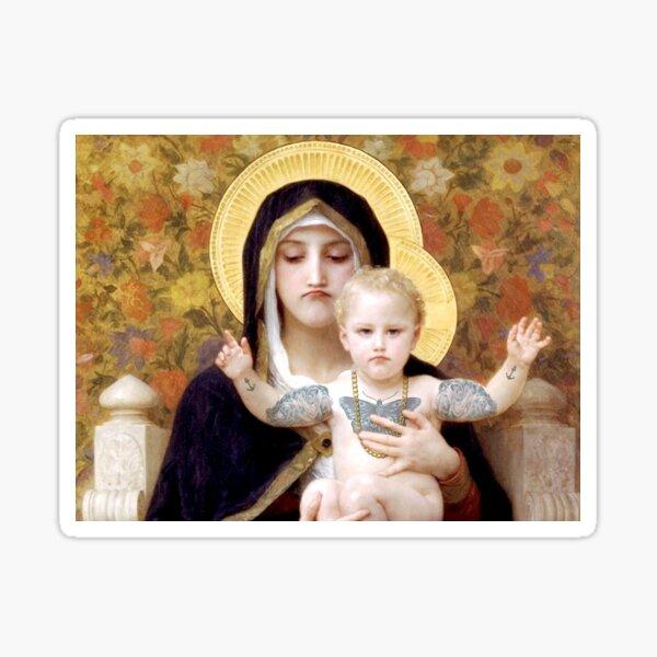 Bad Mood Mary and Jesus  Sticker