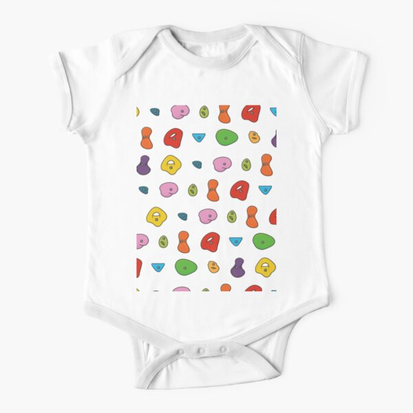 Climbing Holds Short Sleeve Baby One-Piece