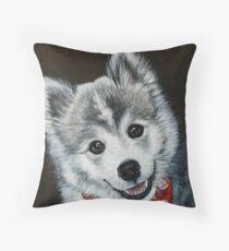 Oreo the Pomsky  Throw Pillow
