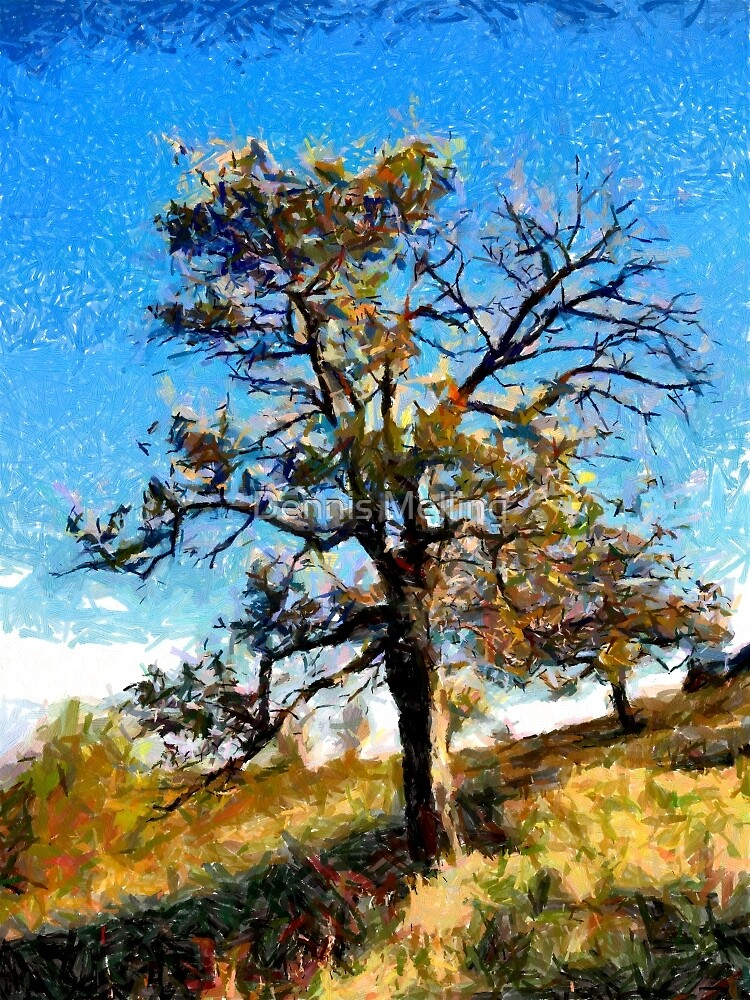 A digital painting of A Tree in Romania (2) by Dennis Melling