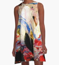 high contrast dynamic abstract A-Line Dress