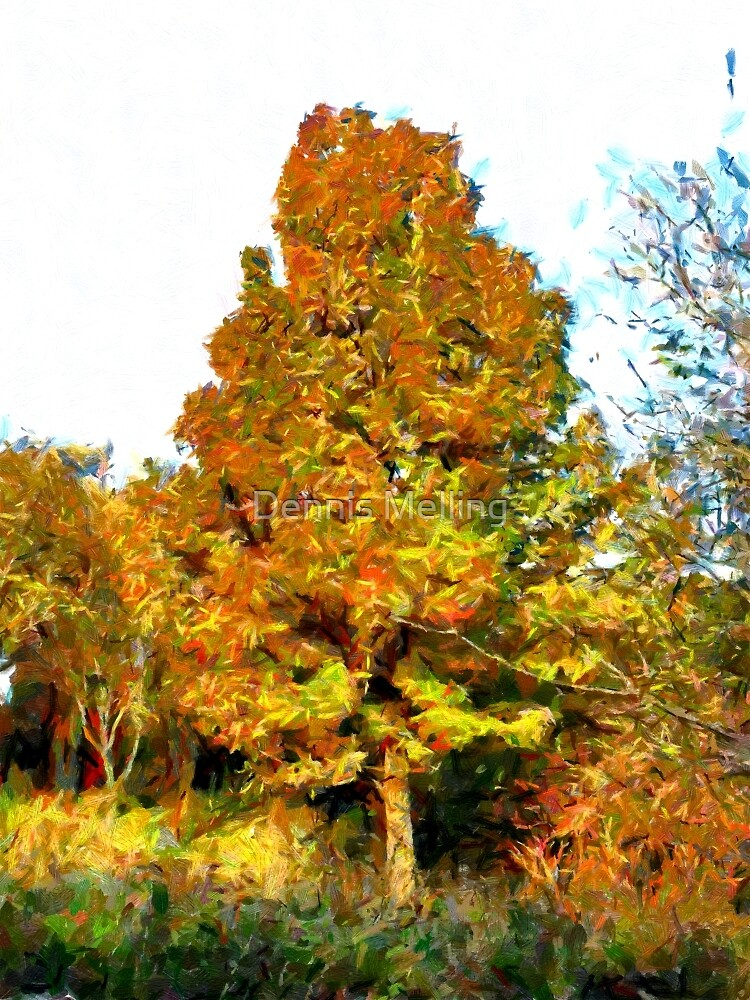 A digital painting of A Tree in Romania (3) by Dennis Melling