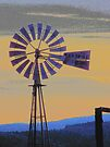 Windmill Sunset by Betty  Town Duncan