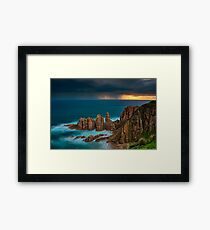 Stormy Sunset Above The Pinnacles Framed Print