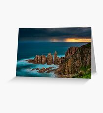 Stormy Sunset Above The Pinnacles Greeting Card