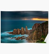 Stormy Sunset Above The Pinnacles Poster