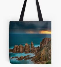 Stormy Sunset Above The Pinnacles Tote Bag