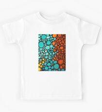 Abstract 3 - Colorful Mosaic Art Aqua Orange Yellow Kids Clothes