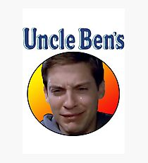Tobey Maguire's Uncle Ben's Photographic Print