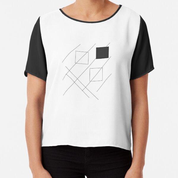 geomatrical pattern Chiffon Top