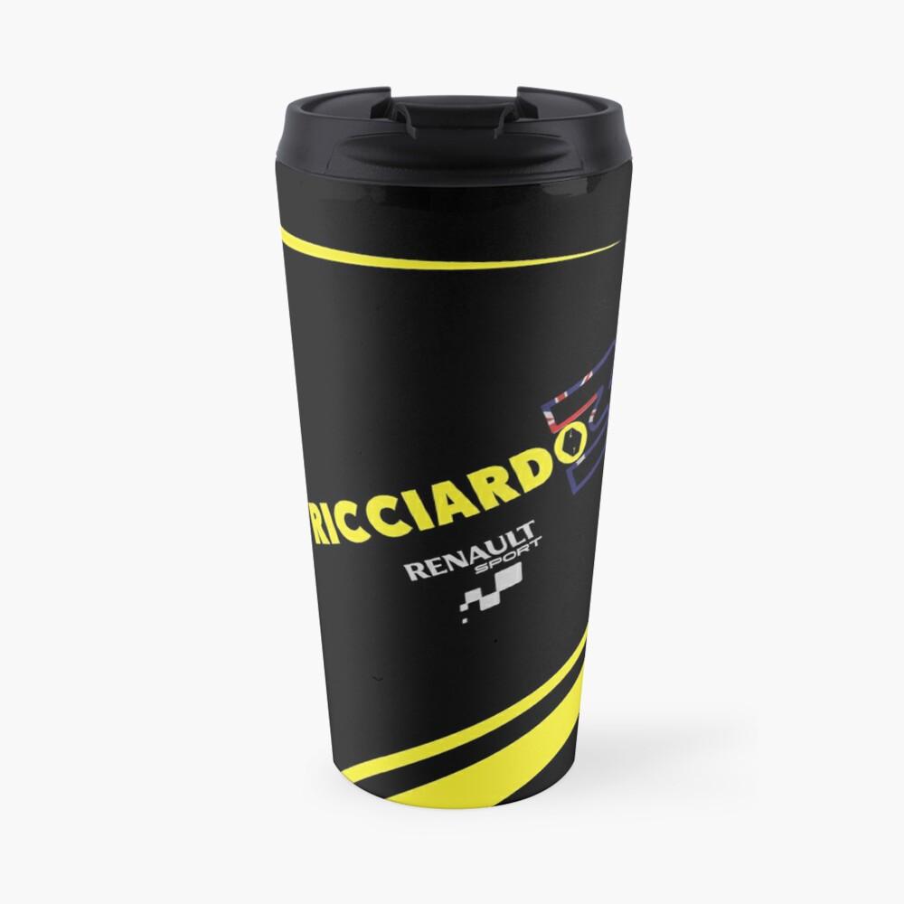 """""""Daniel Ricciardo F1 Renault Sport"""" Travel Mug By"""