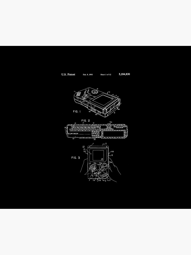Nintendo Game Boy Patent Blueprint by chrismick42