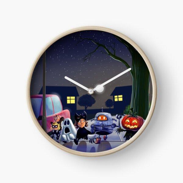 Halloween with Robot Clock
