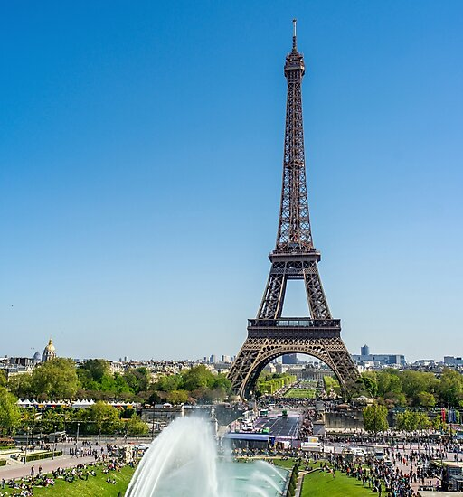 Eiffel Tower On A Sunny Day by PatiDesigns