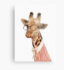 Lady Giraffe Metalldruck
