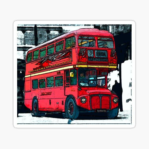 London Bus bywhacky Sticker