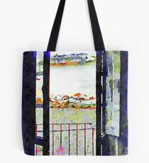 Window of abandoned house Tote Bag