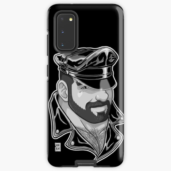 ADAM LIKES LEATHER - BLACK AND WHITE Samsung Galaxy Tough Case