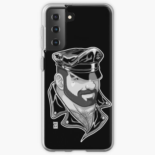 ADAM LIKES LEATHER - BLACK AND WHITE Samsung Galaxy Soft Case