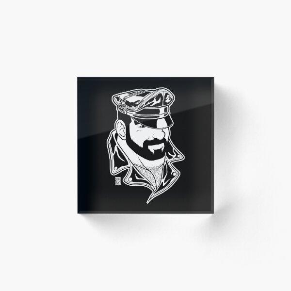 ADAM LIKES LEATHER - LINEART Acrylic Block