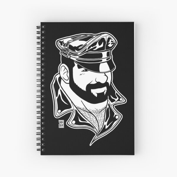 ADAM LIKES LEATHER - LINEART Spiral Notebook