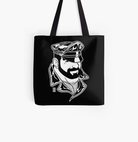 ADAM LIKES LEATHER - LINEART All Over Print Tote Bag