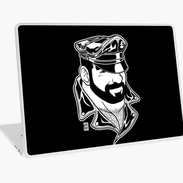 ADAM LIKES LEATHER - LINEART Laptop Skin