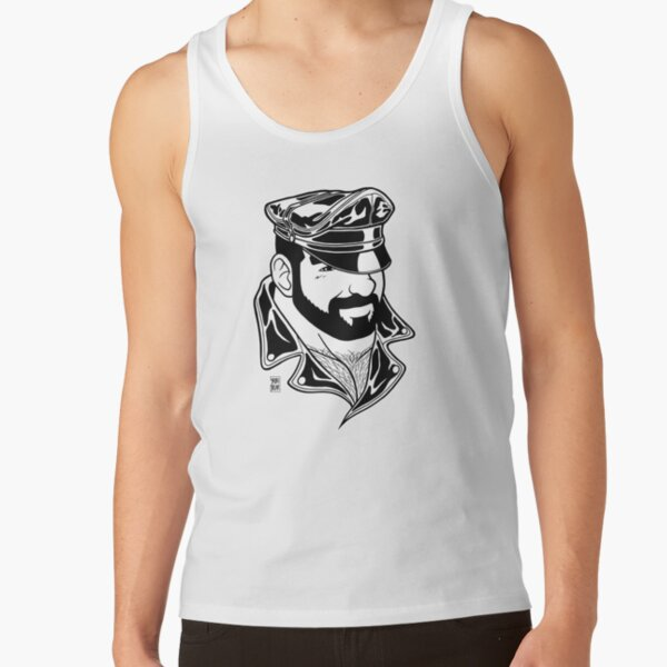 ADAM LIKES LEATHER - LINEART Tank Top