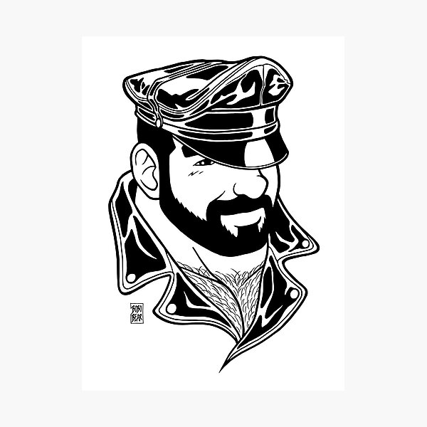 ADAM LIKES LEATHER - LINEART Photographic Print