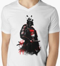 Shinigami Samurai Mens V-Neck T-Shirt