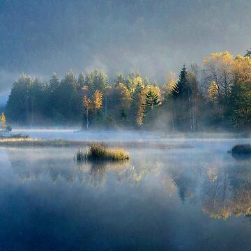 «Lac en automne» par Isenmann