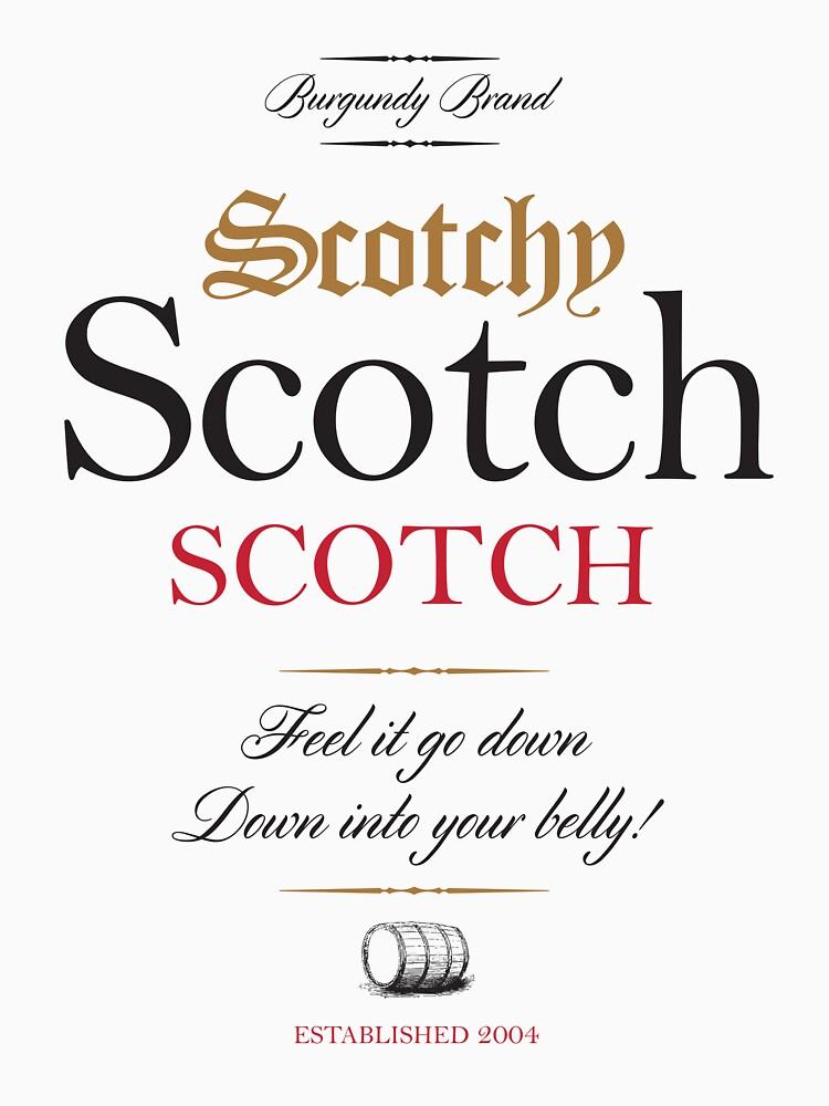 Scotchy Scotch Scotch - Ron Burgundy by gazbar