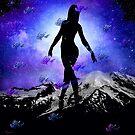 CELESTIAL BALLERINA STARS AND BUTTERFLIES by Saundra Myles