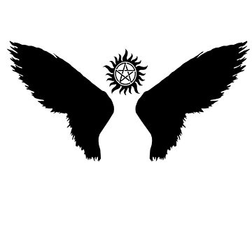 castiel wings with anti-possesion symbol by nicoletunni