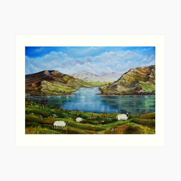 """Connemara Spring, Ireland"" - oil painting Art Print"