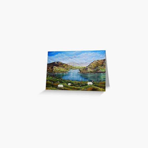 """Connemara Spring, Ireland"" - oil painting Greeting Card"