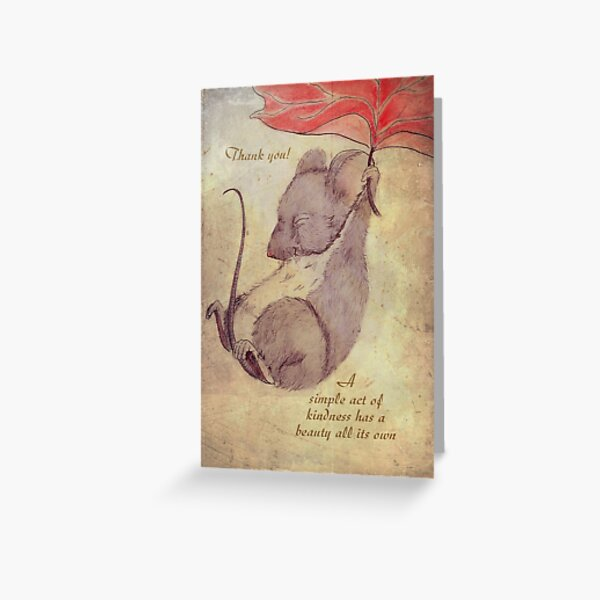 thank you for your kindness Greeting Card