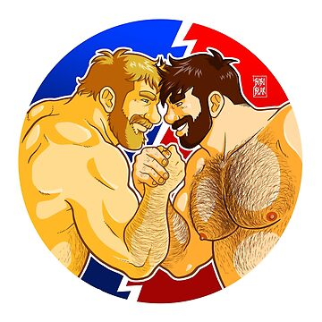 ADAM AND MIKE LIKE ARM WRESTLING - WHITE CIRCLE by bobobear