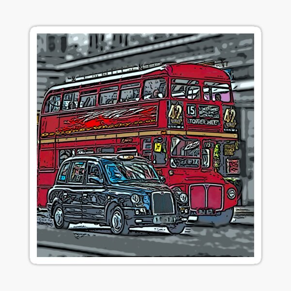 London Bus and Cab Sticker