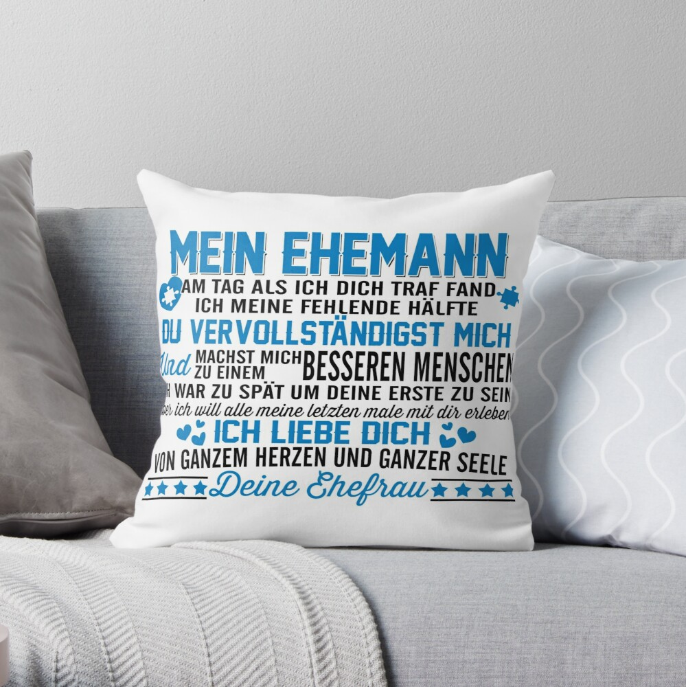 Gift for husband Throw Pillow