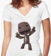 LBP Sackboy Women's Fitted V-Neck T-Shirt