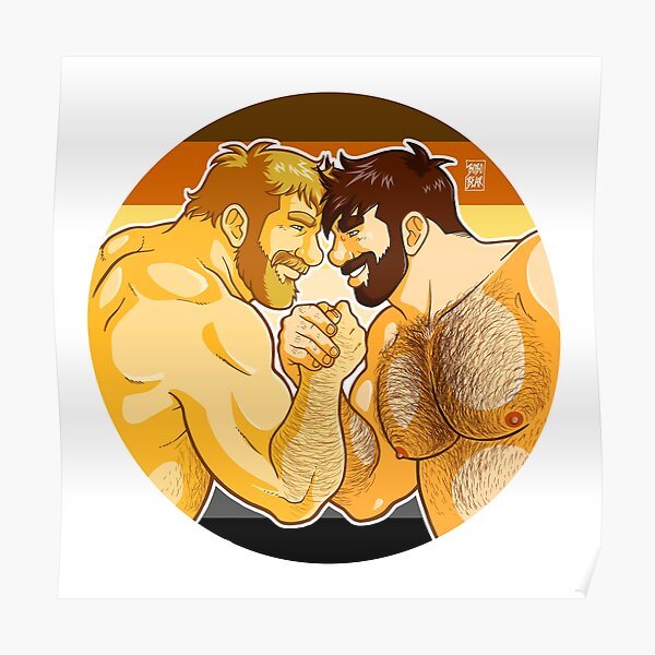 ADAM AND MIKE LIKE ARM WRESTLING BEAR PRIDE - CIRCLE Poster
