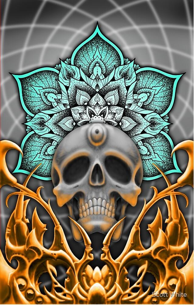 Bio mandala skull by Scott White