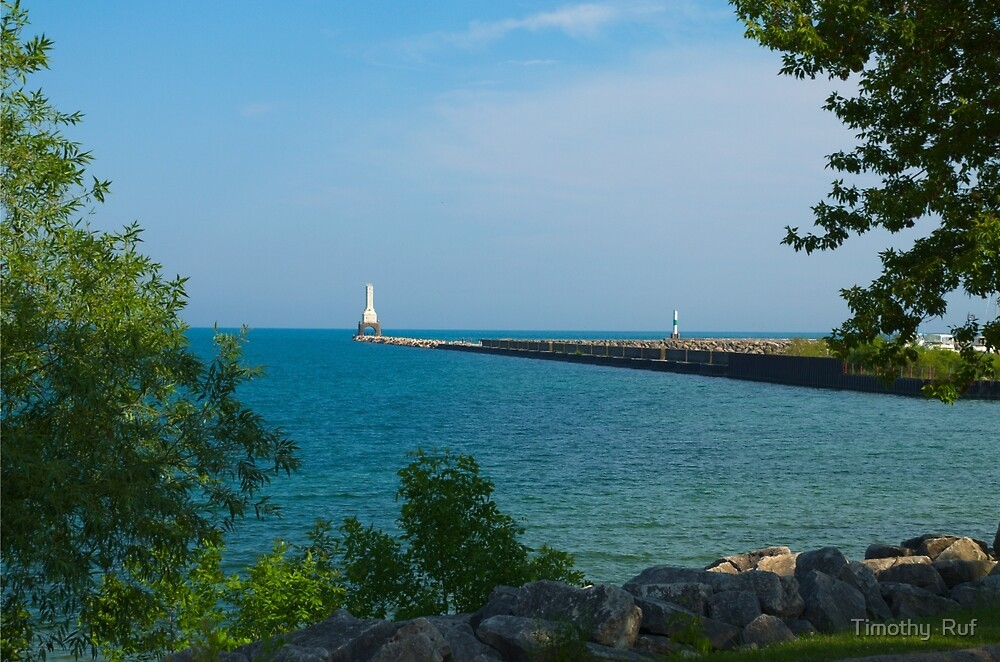 Port Washington Lighthouse and Breakwater by Timothy  Ruf