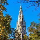 Österreich. Wien. Das Rathaus. Turm. von vadim19