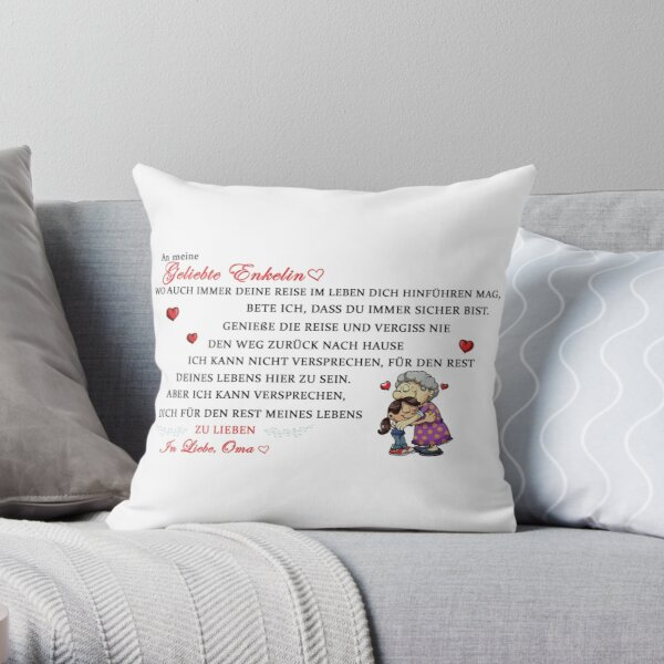 Gift for the beloved granddaughter Throw Pillow