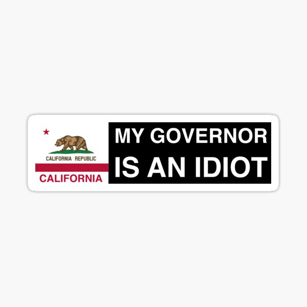 My Governor is an idiot California Sticker