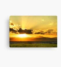 God's Sunset III Canvas Print