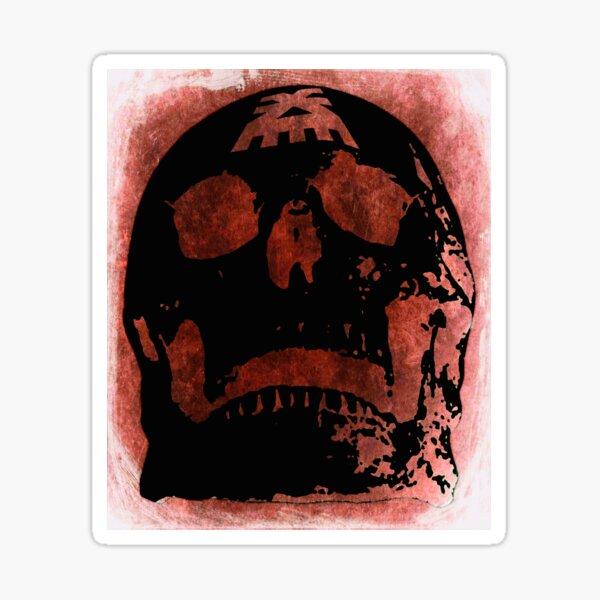 Offering to the skull throne - blood smear grunge monochrome version Sticker